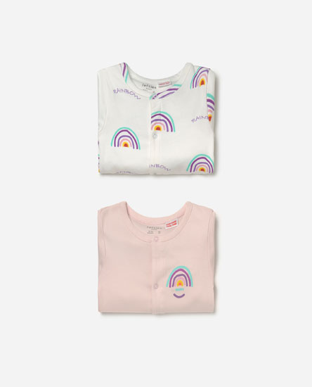 Pack of long sleeve sleepsuits