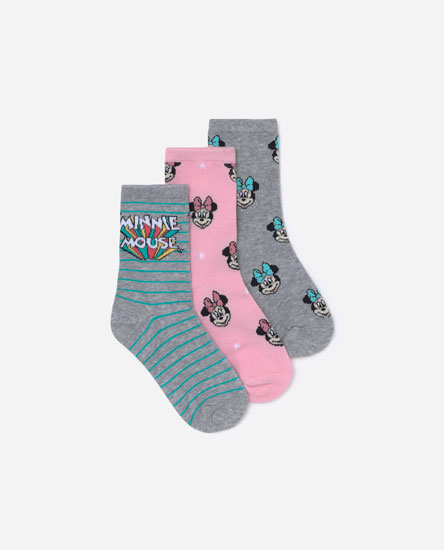 Pack of 3 Minnie Mouse © Disney socks