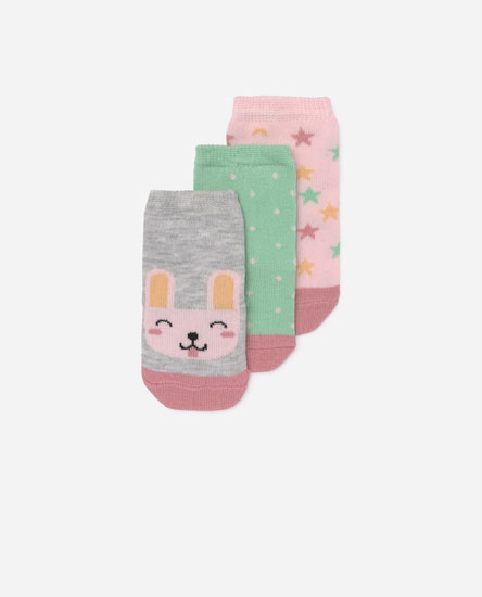 Pack of 3 rabbit socks