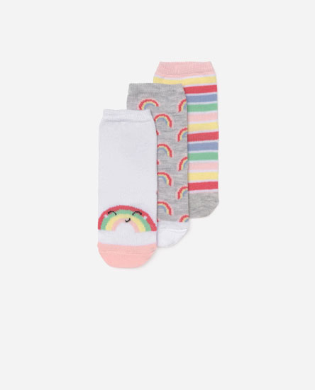 Pack of rainbow socks