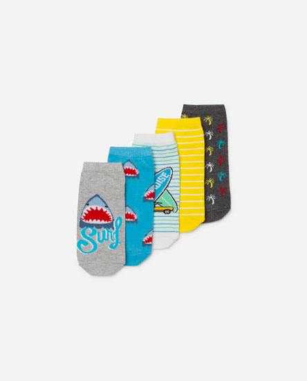 Pack of shark print socks