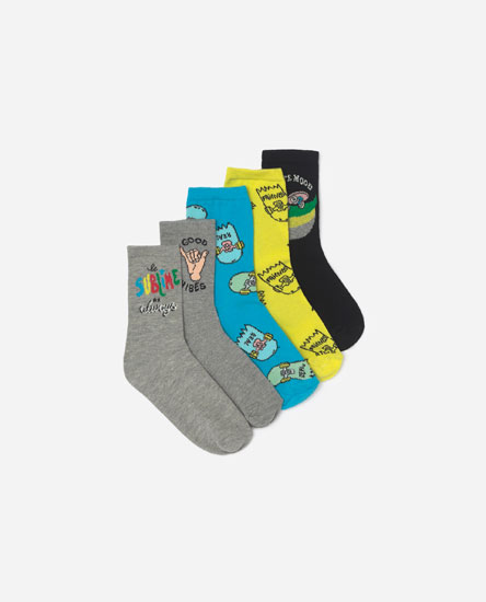 Pack of 5 skater socks