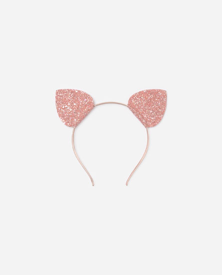 Headband with glittery ears