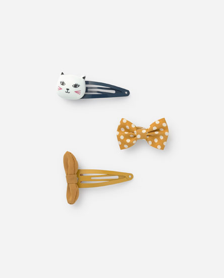 Pack clips gatito