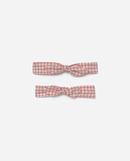 Pack of gingham check MOM & I bandanas