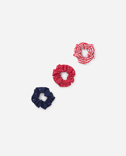 Pack de scrunchies estampados