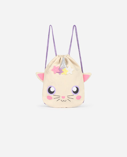 Cat and unicorn backpack