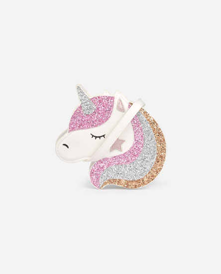Glittery unicorn bag