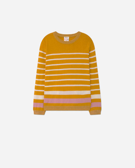 Striped sweater with glitter detail