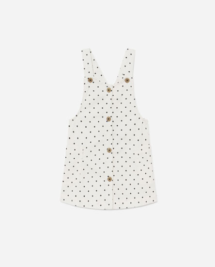 Buttoned pinafore dress