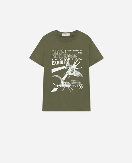 Camiseta estampado posicional
