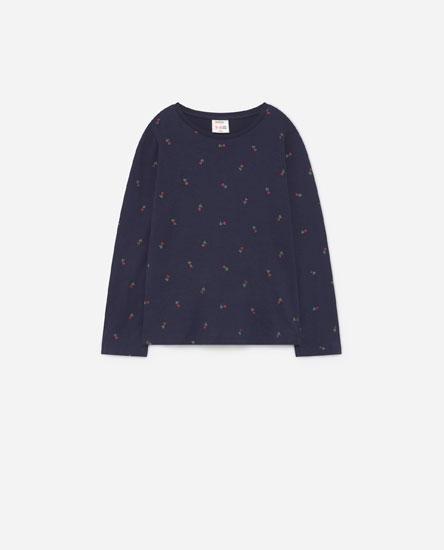 Camiseta estampada glitter