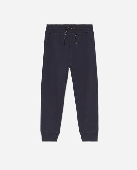 Plush jersey trousers