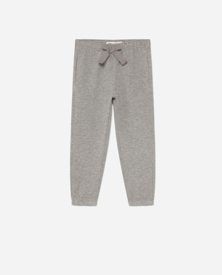 Plush trousers with bow