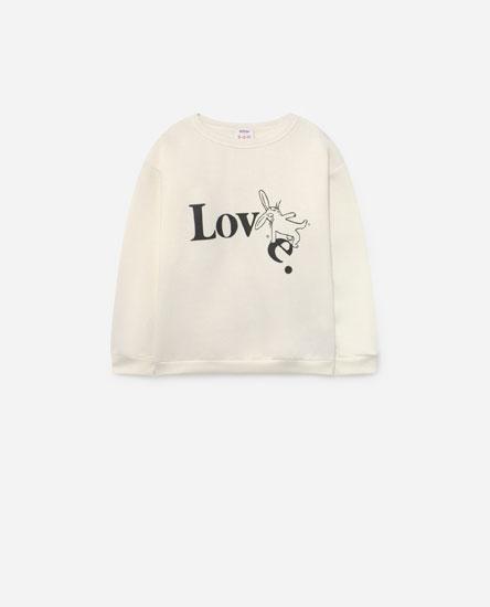 Placement print sweatshirt