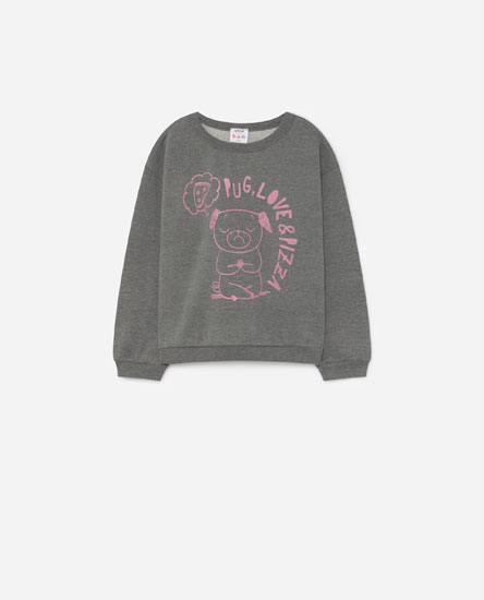 Placement print sweatshirt