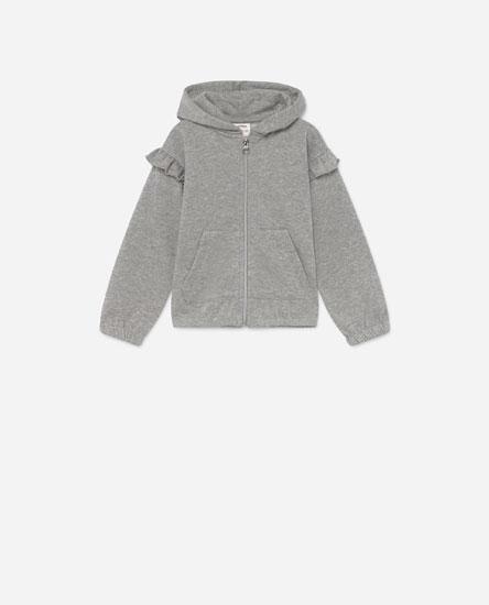 Glittery plush jacket