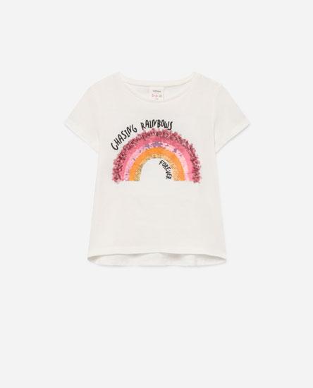 Sequin print T-shirt