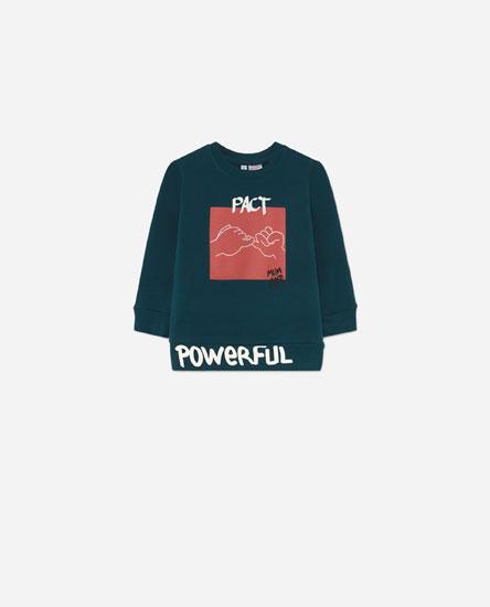 Urban print sweatshirt