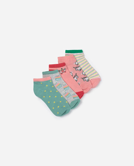 Pack of 5 nicorn socks