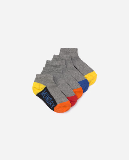 Pack of 5 days of the week socks