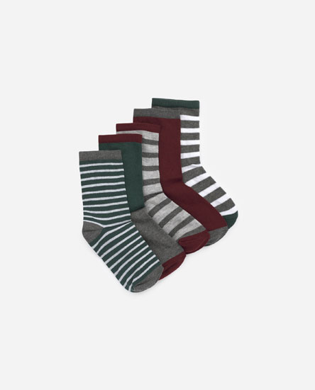 Pack of 5 striped socks
