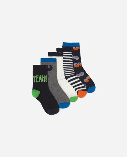 Pack de meias com monster