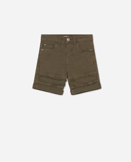 Biker bermuda shorts