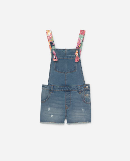 Dungarees with printed straps