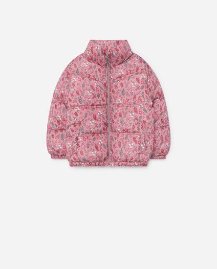 Printed puffer jacket