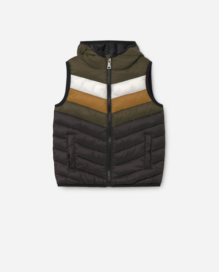 Colour block gilet