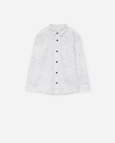 Printed Oxford shirt
