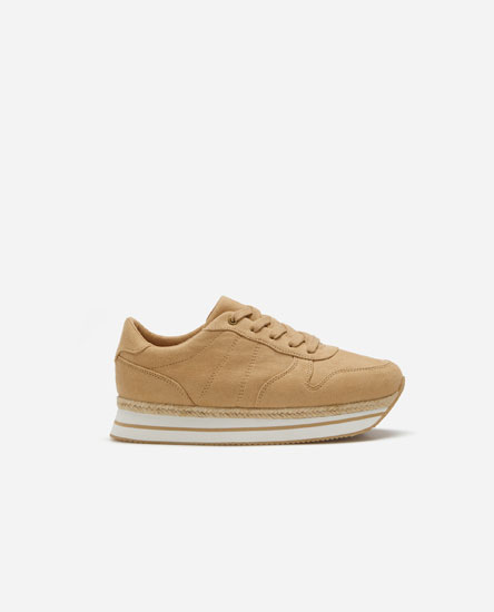 EVA sole sneakers with jute trim