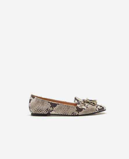 Animal print loafers