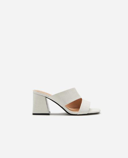 White mock croc sandals