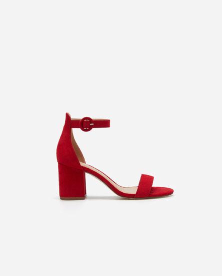 Basic mid-heel sandals
