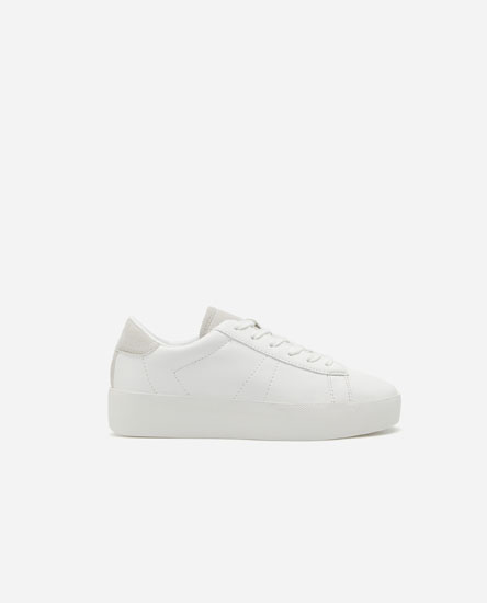 Chunky sole plimsolls with heel detail.