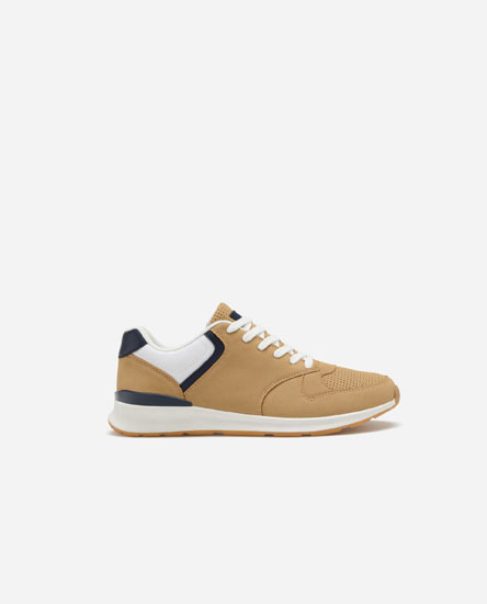 Brogued casual trainers