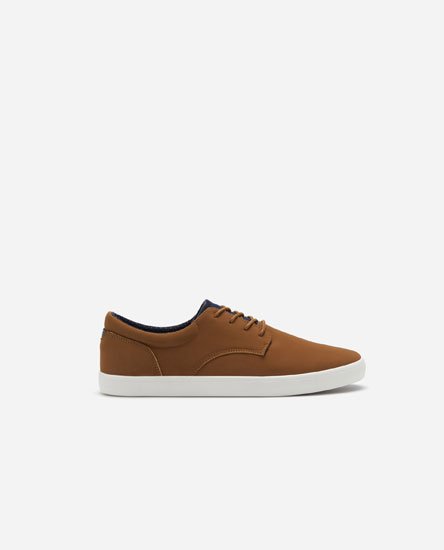Derby sneakers with trims
