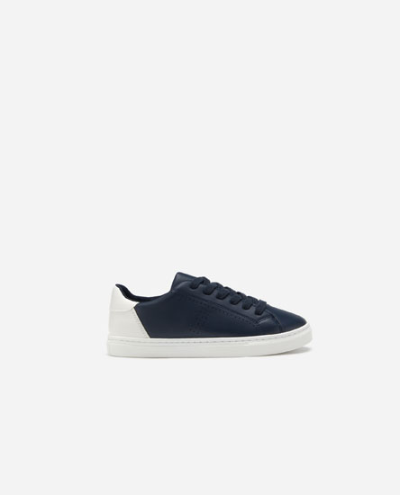 Basic plimsolls with contrast heel