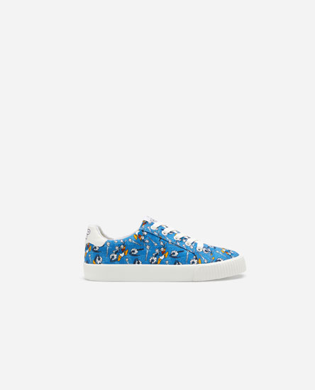 Mickey Mouse print plimsolls
