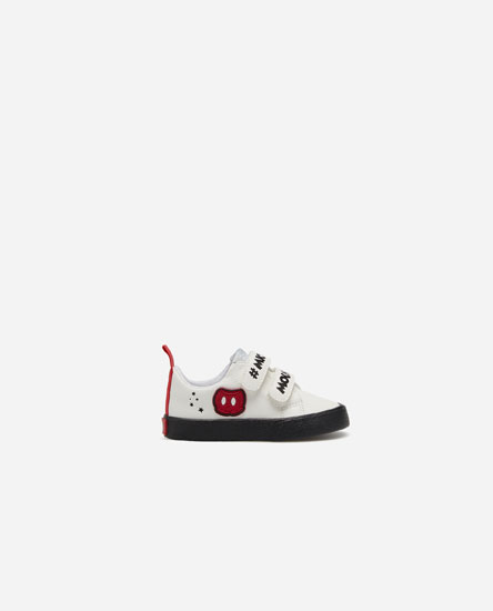 Hook-and-loop Mickey Mouse plimsolls
