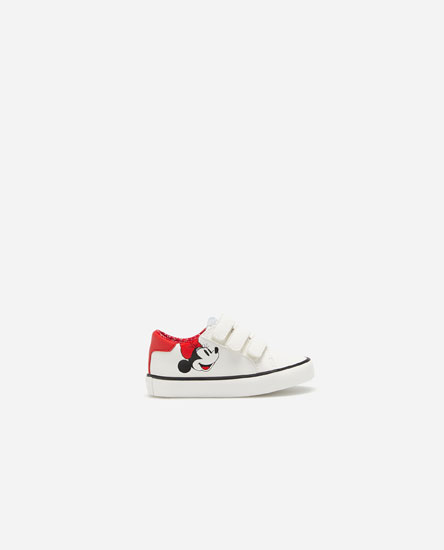 Minnie Mouse plimsolls with hook-and-loop straps