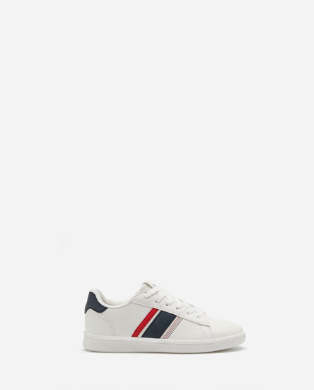 Striped plimsolls
