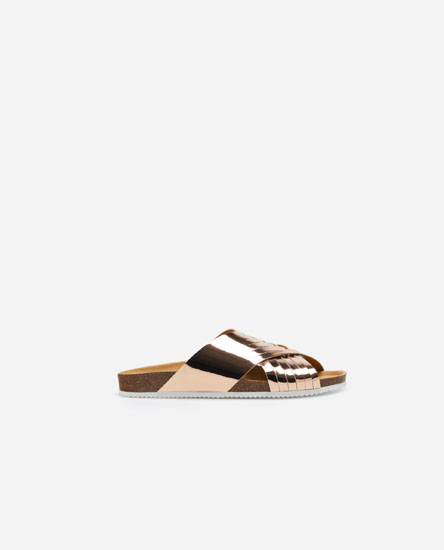 Interlaced bio sandals