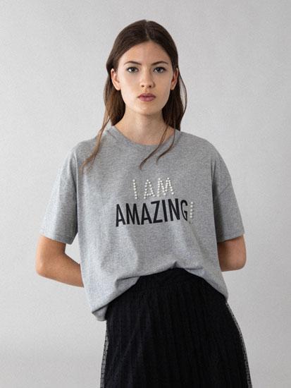 Beaded T-shirt