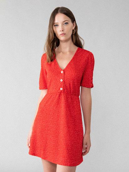 Buttoned short dress