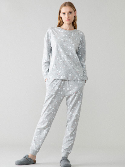 Conjunto de pijama estampado de estrellas