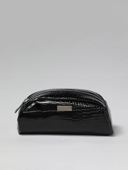 Mock croc toiletry bag