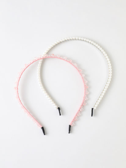 2-Pack of faux-pearl headbands